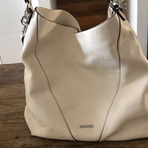 White leather Rebecca Minkoff hobo bag